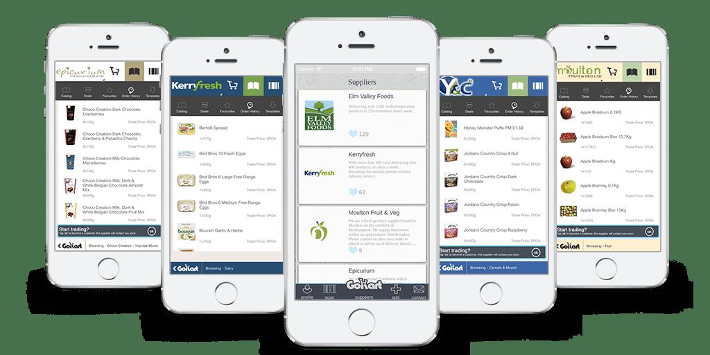 GoKart App find restaurant supplies